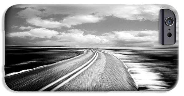 Black Top iPhone Cases - Highway Run iPhone Case by Scott Pellegrin