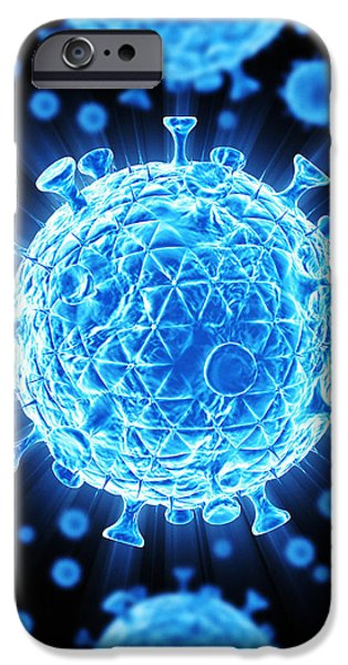 Hiv Particles iPhone Case by Mehau Kulyk