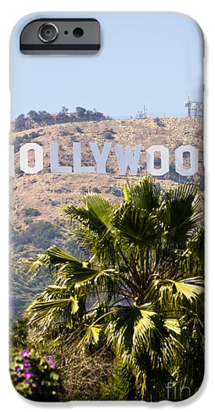 Industry iPhone Cases - Hollywood Sign Photo iPhone Case by Paul Velgos