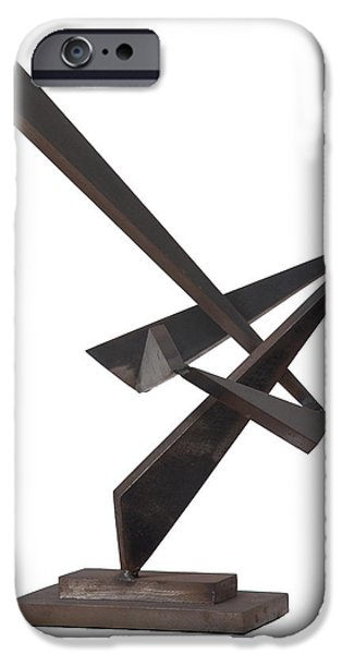 Abstract Movement Sculptures iPhone Cases - Homage To Dizzy Gillespie iPhone Case by John Neumann