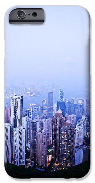 Hong Kong Skyline iPhone Case by Ray Laskowitz - Printscapes