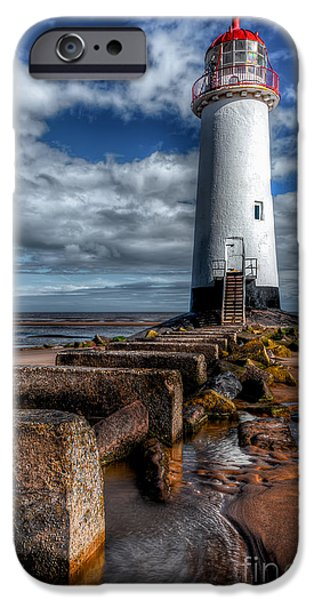 Coastline Digital Art iPhone Cases - House of Light iPhone Case by Adrian Evans