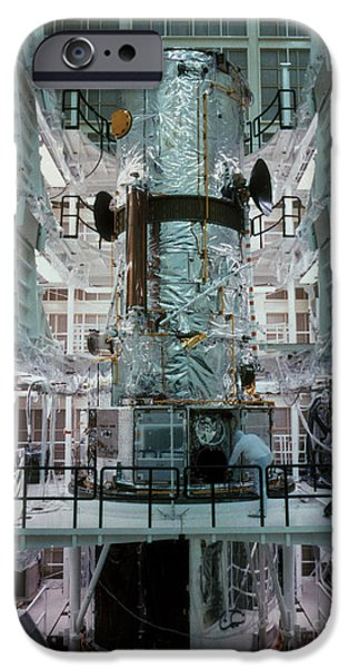 Hubble Space Telescope iPhone Case by NASA/Science Source