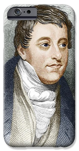 Humphry Davy, English Chemist iPhone Case by Sheila Terry