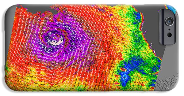 21st iPhone Cases - Hurricane Katrina iPhone Case by NASA / Science Source