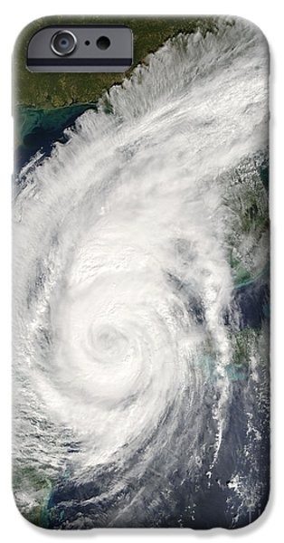 21st iPhone Cases - Hurricane Wilma iPhone Case by NASA / Science Source