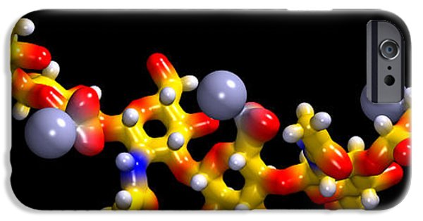 Model iPhone Cases - Hyaluronic Acid, Molecular Model iPhone Case by Dr Mark J. Winter