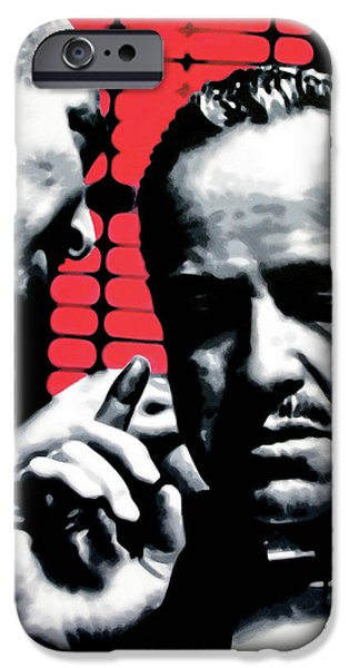 Francis Ford Coppola iPhone Cases - I Want You To Kill him iPhone Case by Luis Ludzska