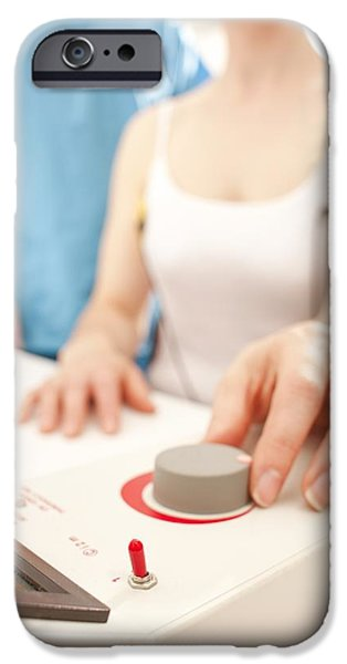 Iontophoresis iPhone Cases - Iontophoresis For Excess Sweating iPhone Case by