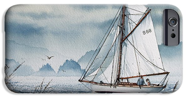 Tall Ship iPhone Cases - Island Dreams iPhone Case by James Williamson
