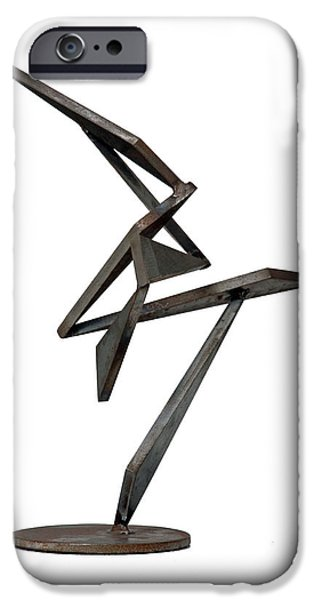 Abstract Movement Sculptures iPhone Cases - Jazz iPhone Case by John Neumann