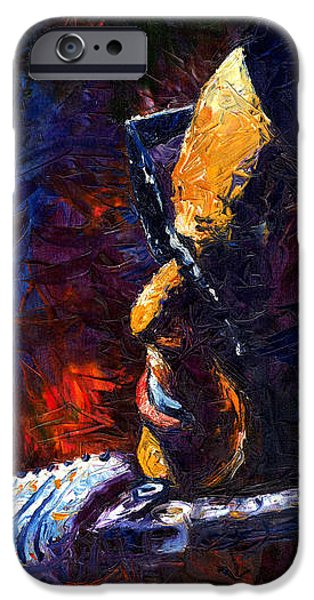Rays Paintings iPhone Cases - Jazz Ray iPhone Case by Yuriy  Shevchuk