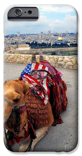 From The Dome iPhone Cases - Jerusalem from Mount Olive iPhone Case by Thomas R Fletcher