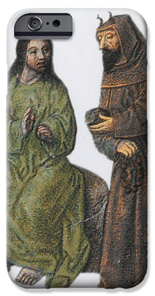 Jesus Artwork iPhone Cases - Jesus In The Wilderness iPhone Case by Photo Researchers