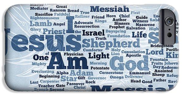 Bridegroom iPhone Cases - Jesus Messiah 2 iPhone Case by Angelina Vick