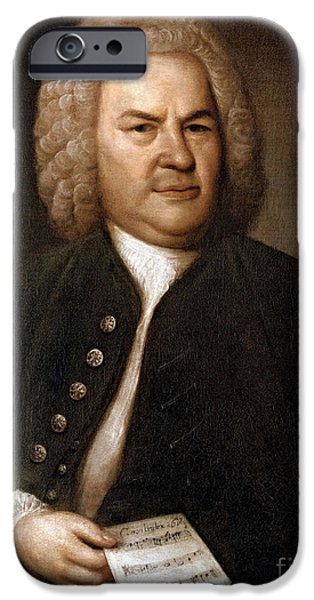Johann Sebastian Bach, German Baroque iPhone Case by Photo Researchers