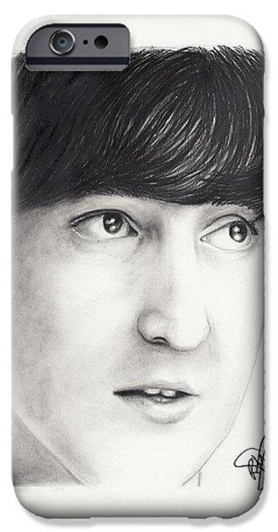 John Lennon Drawings iPhone Cases - John Lennon iPhone Case by Rosalinda Markle