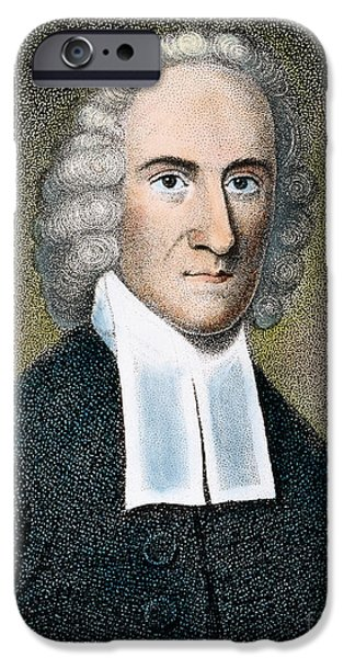 Colonial Man iPhone Cases - Jonathan Edwards iPhone Case by Granger