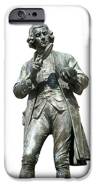 Statue Portrait iPhone Cases - Joseph Priestley, British Chemist iPhone Case by Martin Bond