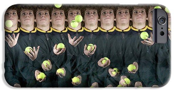 Jugglers iPhone Cases - Juggler iPhone Case by Ted Kinsman