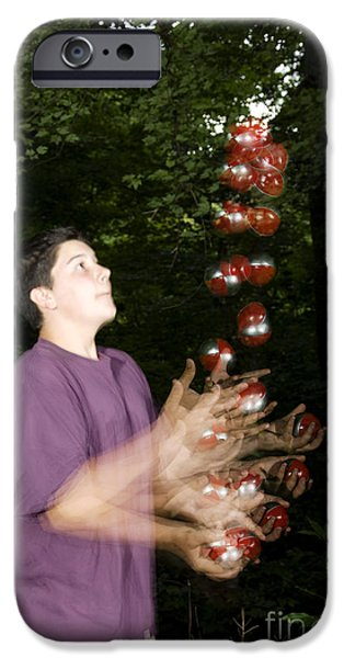 Juggling Photographs iPhone Cases - Juggling Balls iPhone Case by Ted Kinsman
