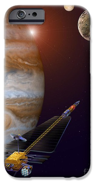 Galilean Moon iPhone Cases - Jupiter Icy Moons Orbiter Spacecraft iPhone Case by NASA / Science Source