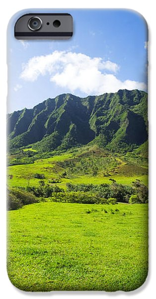 Kaaawa valley and Kualoa Ranch iPhone Case by Dana Edmunds - Printscapes