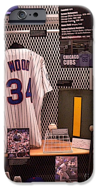 Chicago Cubs iPhone Cases - Kerry iPhone Case by David Bearden