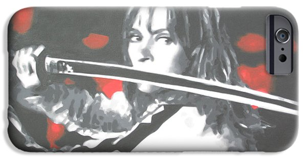 Quentin Tarantino iPhone Cases - Kill Bill iPhone Case by Luis Ludzska