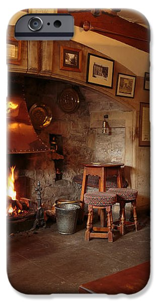 Kings Head Pub Kettlewell iPhone Case by Louise Heusinkveld