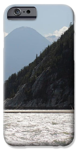 Kite surfing the Spit in Squamish B.C Canada iPhone Case by Pierre Leclerc Photography