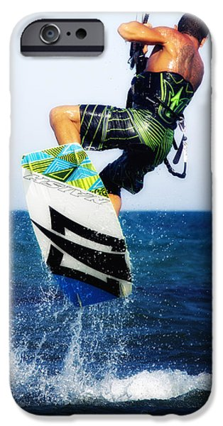 kitesurfer iPhone Case by Stylianos Kleanthous