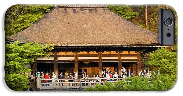 Pagoda iPhone Cases - Kiyomizudera Temple iPhone Case by Sebastian Musial
