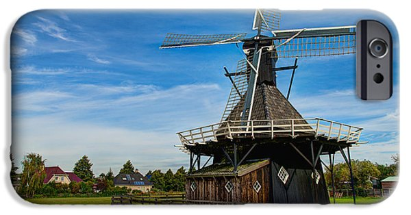 City Scape Photographs iPhone Cases - Koudum Molen iPhone Case by Chad Dutson