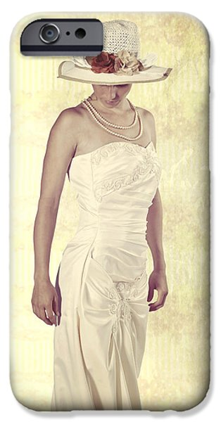 Lady in white dress iPhone Case by Joana Kruse
