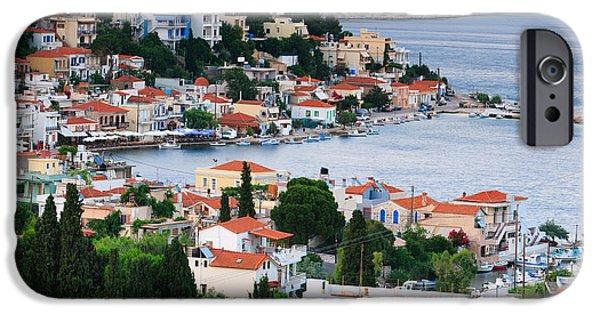 Mesta iPhone Cases - Lagada. Chios Greece  iPhone Case by Emmanuel Panagiotakis