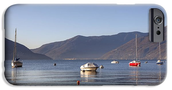 Mountain iPhone Cases - Lago Maggiore iPhone Case by Joana Kruse