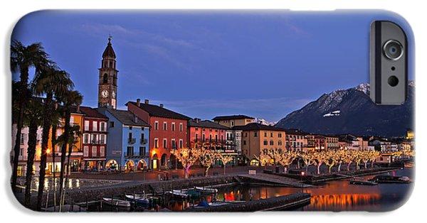Ascona iPhone Cases - Lake Maggiore - Ascona iPhone Case by Joana Kruse