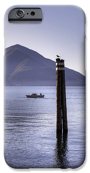 Ascona iPhone Cases - Lake Maggiore iPhone Case by Joana Kruse