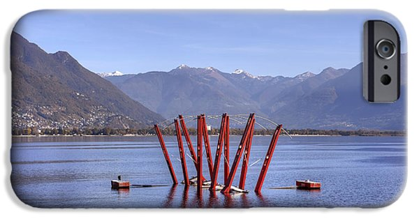 Installation Art Photographs iPhone Cases - Lake Maggiore Locarno iPhone Case by Joana Kruse