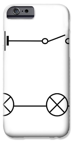 Lamps Connected In Series iPhone Case by Sheila Terry