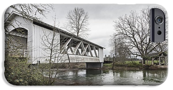 Recently Sold -  - Built Structure iPhone Cases - Larwood Covered Bridge Spanning iPhone Case by Douglas Orton