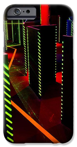 Laser Game Area With Obstacles iPhone Case by Corepics