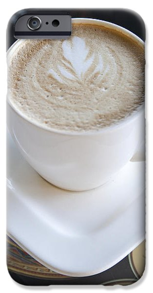Latte With a Leaf Design iPhone Case by Jaak Nilson