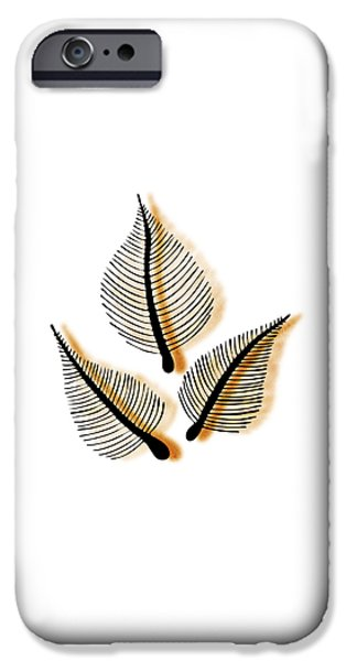 Cemetery Paintings iPhone Cases - Leaves iPhone Case by Frank Tschakert