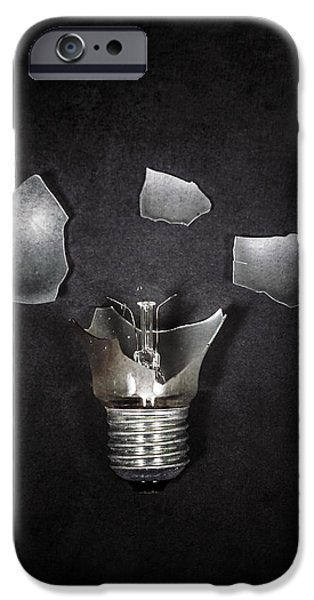 Bulb iPhone Cases - Light Bulb iPhone Case by Joana Kruse