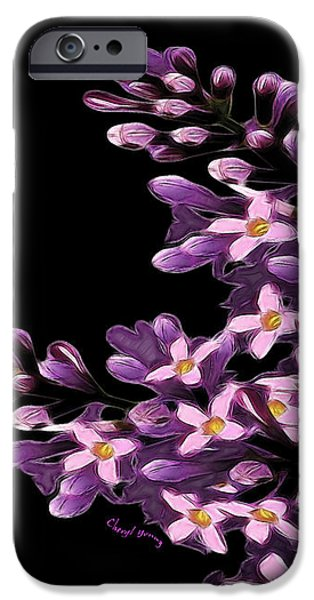Lilacs iPhone Case by Cheryl Young