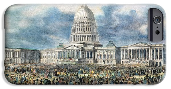 Inauguration iPhone Cases - Lincoln Inauguration, 1865 iPhone Case by Granger