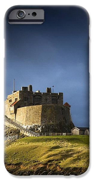 Mounds iPhone Cases - Lindisfarne Castle On A Volcanic Mound iPhone Case by John Short