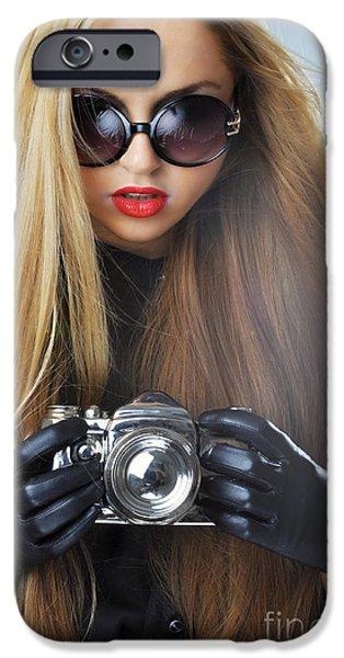 Gray Hair iPhone Cases - Liuda10 iPhone Case by Yhun Suarez
